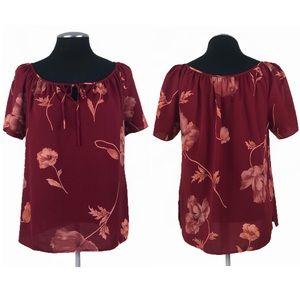 Norton McNaughton - Vintage Petite Floral Tie Front Blouse